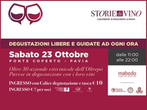 Storie di vino - L'Oltrepò si racconta a Pavia (23/10/2021)